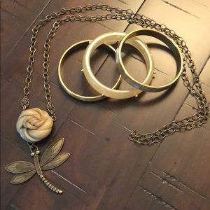 Jewelry - Necklace and 3 piece bangle set